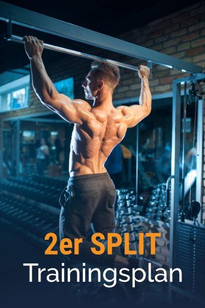 2er-Split Muskelaufbau Trainingsplan kostenlos als PDF herunterladen