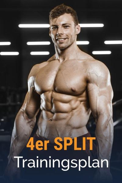 4er-Split Muskelaufbau Trainingsplan kostenlos als PDF herunterladen