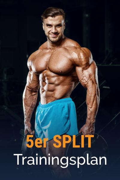 5er-Split Muskelaufbau Trainingsplan kostenlos als PDF herunterladen