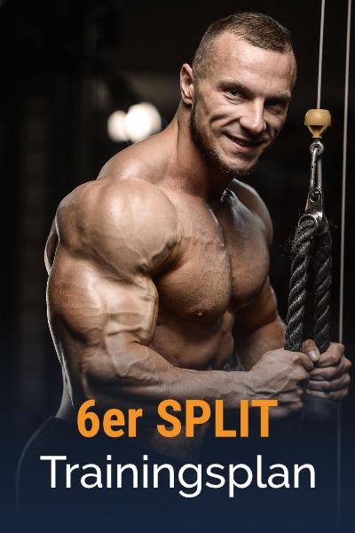 6er-Split Muskelaufbau Trainingsplan kostenlos als PDF herunterladen
